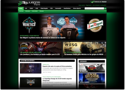 Webedia apuesta por los esports con la creación de la web especializada esports.3djuegos.com