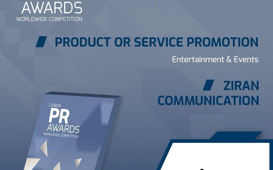 Ziran se hace con una plata en los PR Lisbon Awards