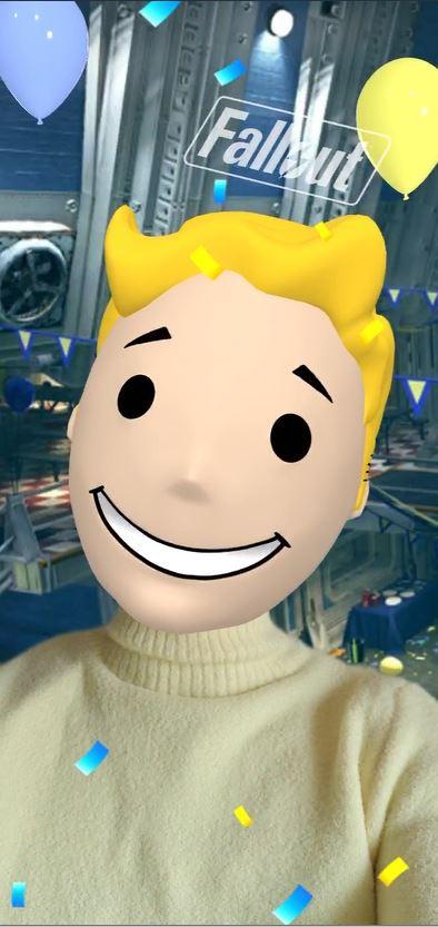 """""""El contenido generado por el usuario genera un 28% más de engagement que el contenido estándar dirigido por la marca"""" Fuente: Comscore. En la imagen, un pantallazo del filtro de Instagram del videojuego Fallout, que permite al usuario convertirse en un personaje muy familiar del juego."""