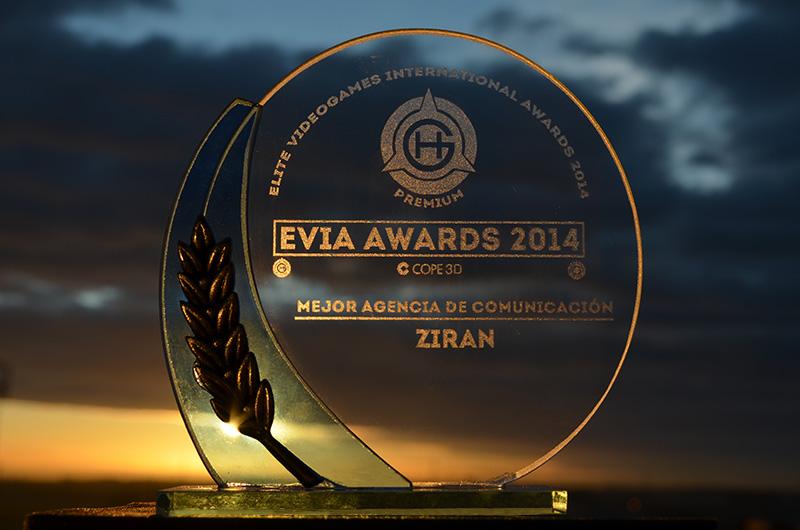 Ziran, elegida mejor agencia del ocio tecnológico en los EVIA Awards 2014